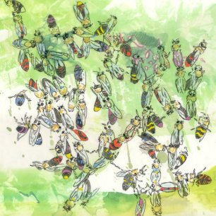 Zwilling - Kerstin Mempel - Mixed at Media - 20 x 20 cm