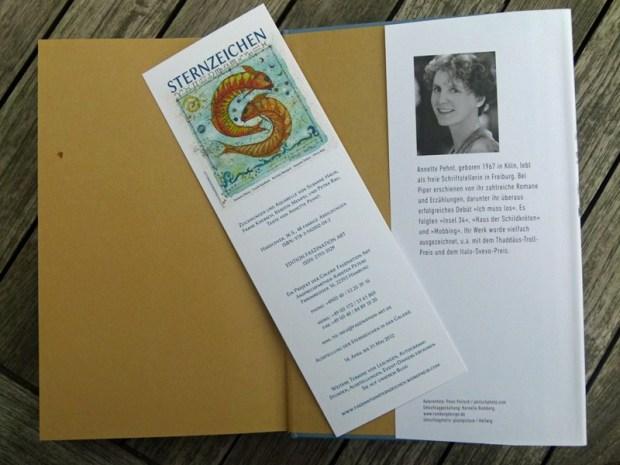 der Flyer des Sternzeichen Buches - das passende Lesezeichen für Annette Pehnt